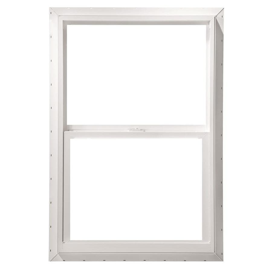 Pella 24X48 ThermaStar by Pella Single Hung Vinyl 10 Series Clear Insulated Glass White with Screen