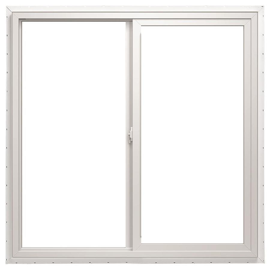 Pella 48X36 ThermaStar by Pella Sliding Window High Altitude Vinyl 10 Series Clear Insulated Glass White with Screen