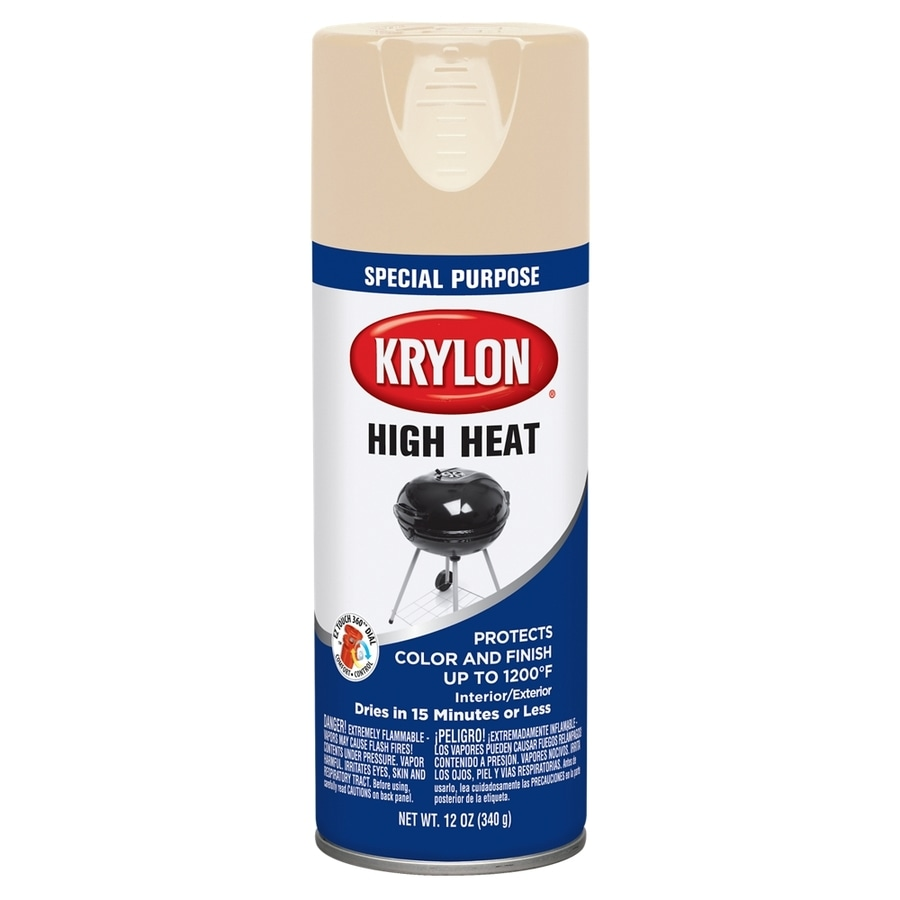Krylon High Heat Beige Enamel Spray Paint (Actual Net Contents: 12-oz)