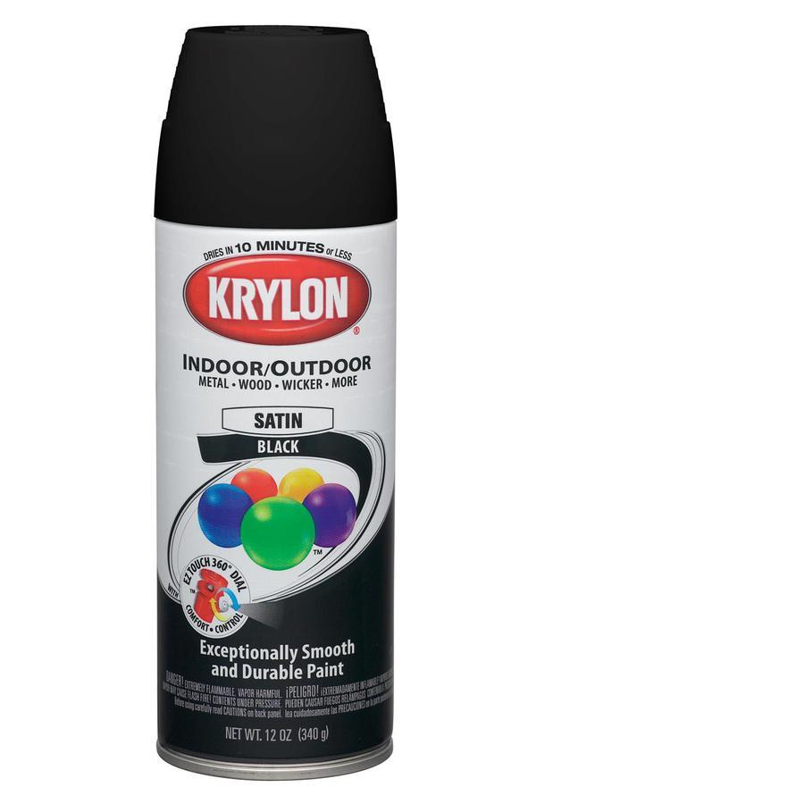 Krylon 12 oz black satin spray paint at - What is satin paint ...
