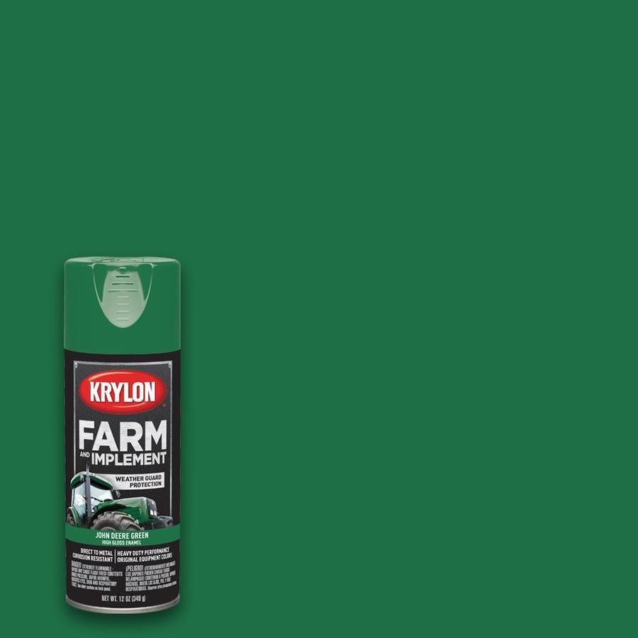 Krylon Farm Equipment Gloss John Deere Green Spray Paint Actual Net Contents 12 Oz