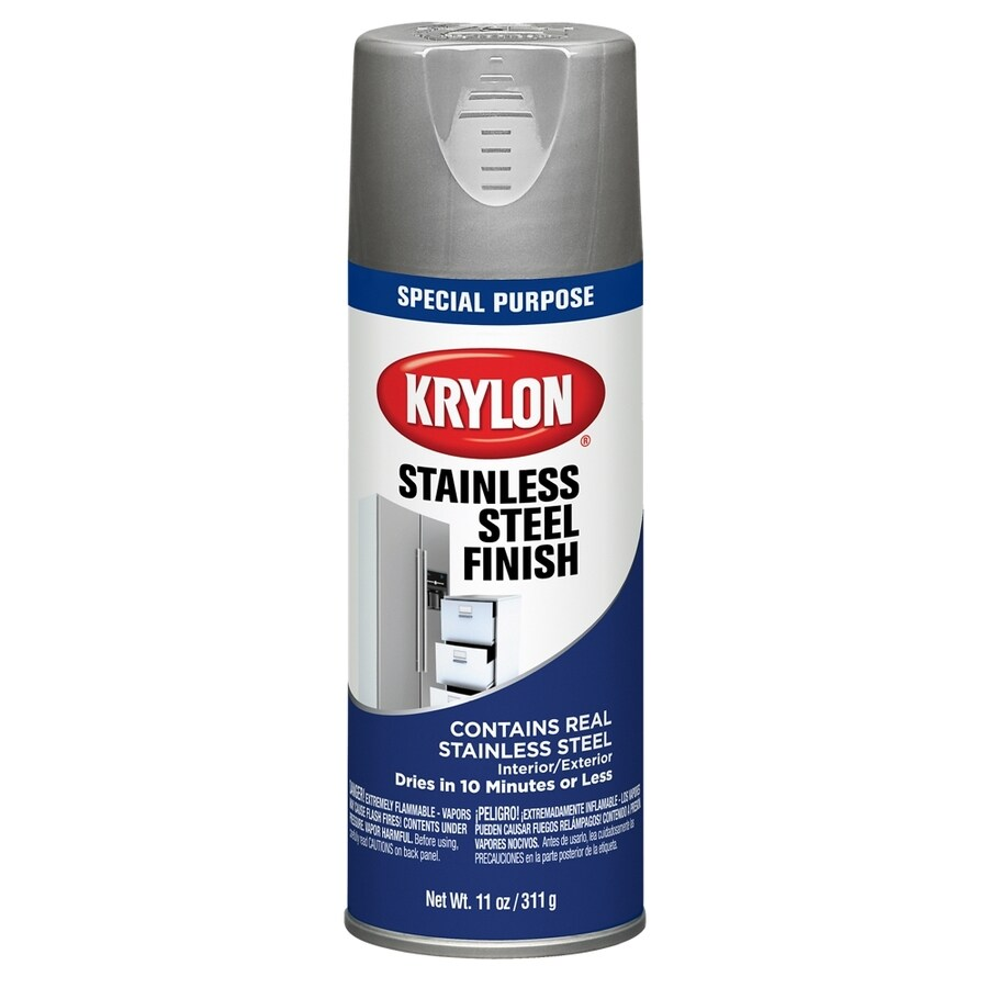Design Stainless Steel Paint shop krylon stainless steel lacquer spray paint actual net contents 11 oz