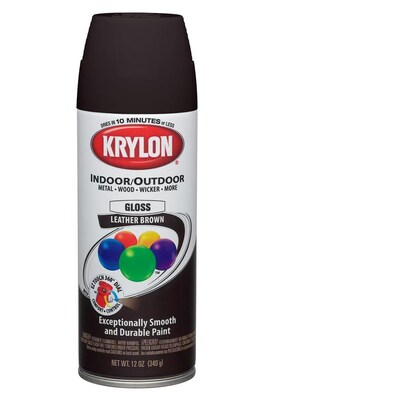 Krylon 12 Oz Leather Brown Gloss Spray Paint At Lowes Com