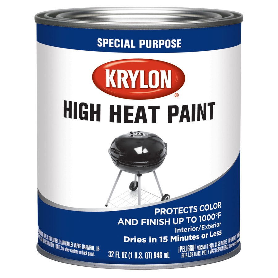 Krylon Black Flat Latex Enamel Interior/Exterior Paint (Actual Net Contents: 32-fl oz)