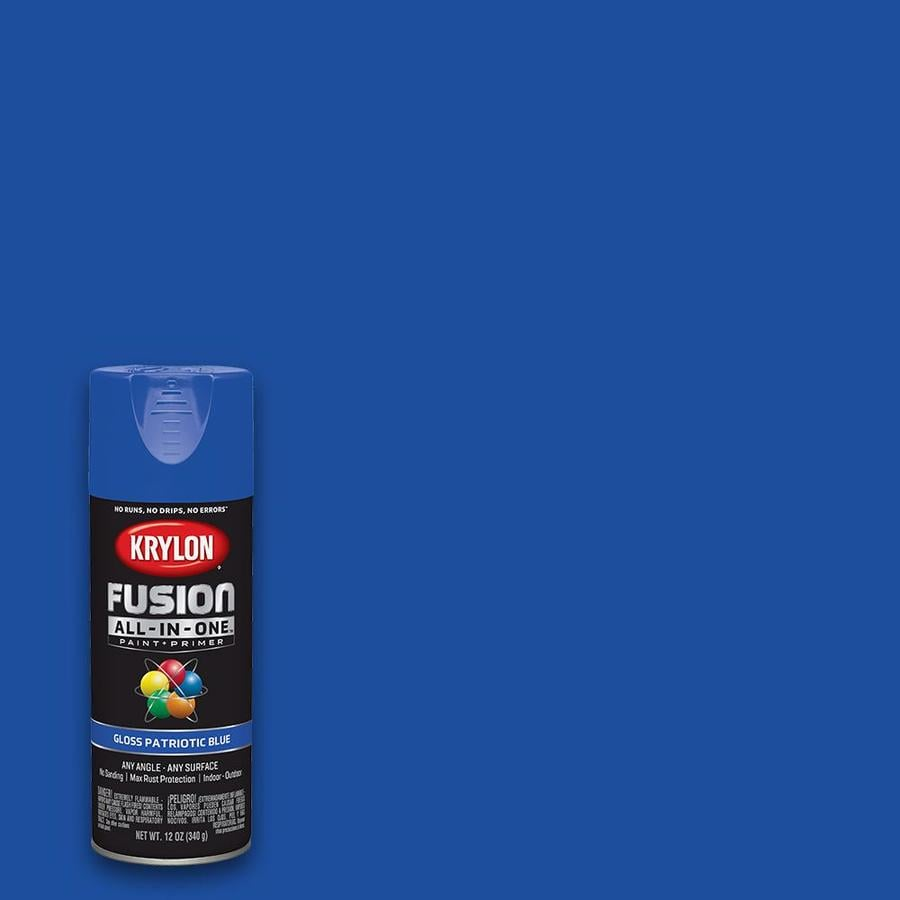 Krylon Fusion All In One Gloss Patriotic Blue Spray Paint And Primer Actual Net Contents 12 Oz