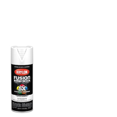 Fusion All In One Satin White Spray Paint And Primer In One Actual Net Contents 12 Oz
