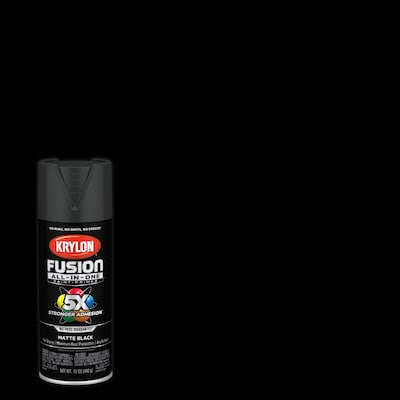Fusion All In One Matte Black Spray Paint And Primer In One Actual Net Contents 12 Oz
