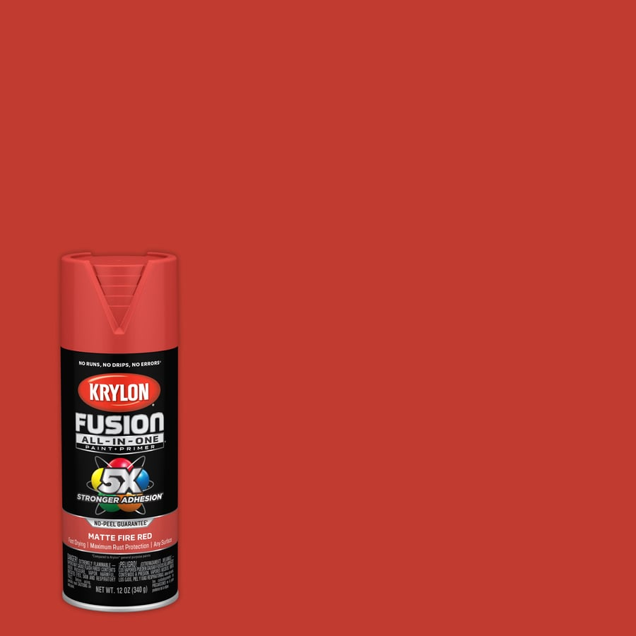 Krylon Fusion All In One General Purpose Matte Fire Red Spray Paint Actual Net Contents 12 Oz