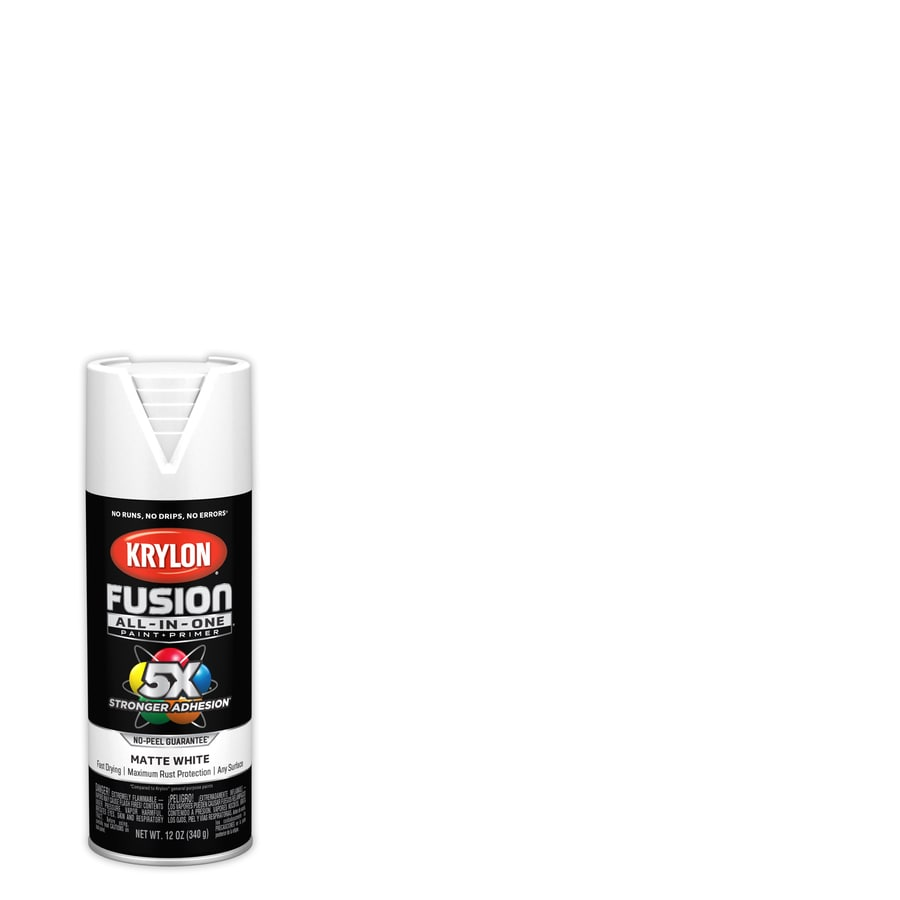 Krylon Fusion All In One General Purpose Matte White Spray Paint Actual Net