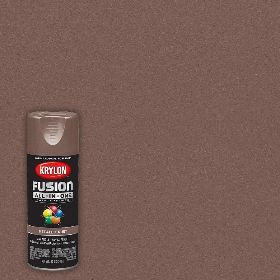 Explore Colors Gold Fusion: Krylon FUSION ALL-IN-ONE Satin Rust Metallic Spray Paint