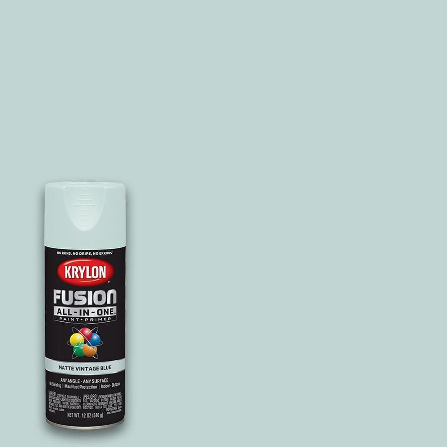 Krylon Fusion All In One General Purpose Matte Vintage Blue Spray Paint Actual Net Contents 12 Oz