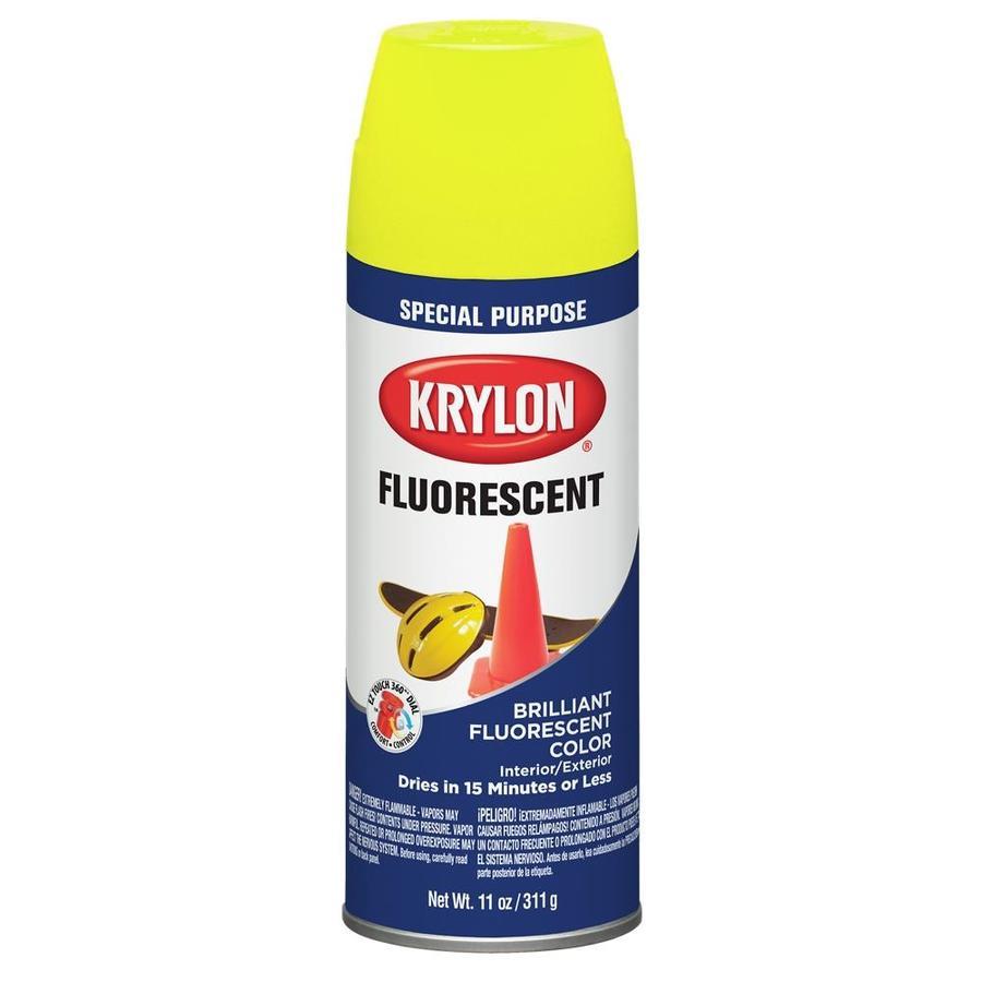 Krylon Lemon Yellow Fluorescent Enamel Spray Paint (Actual Net Contents: 11-oz)