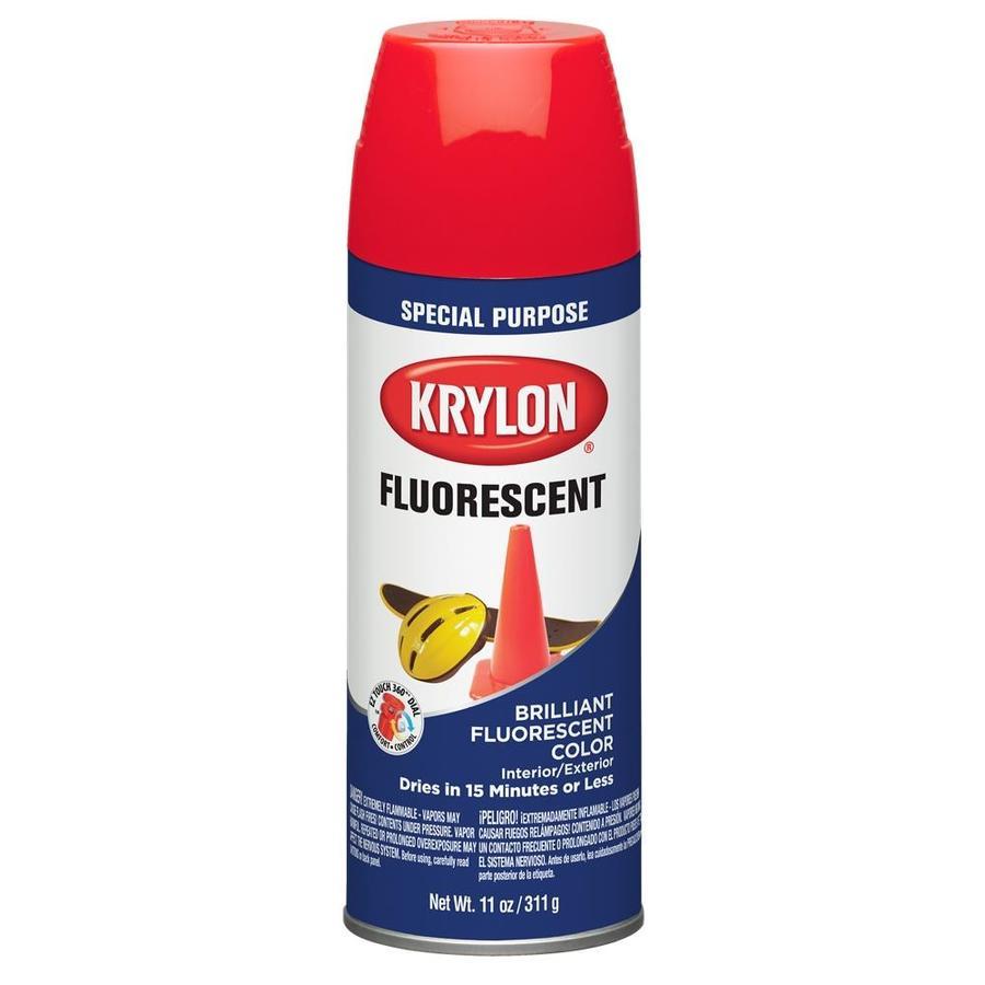 Krylon Cerise Fluorescent Enamel Spray Paint (Actual Net Contents: 11)