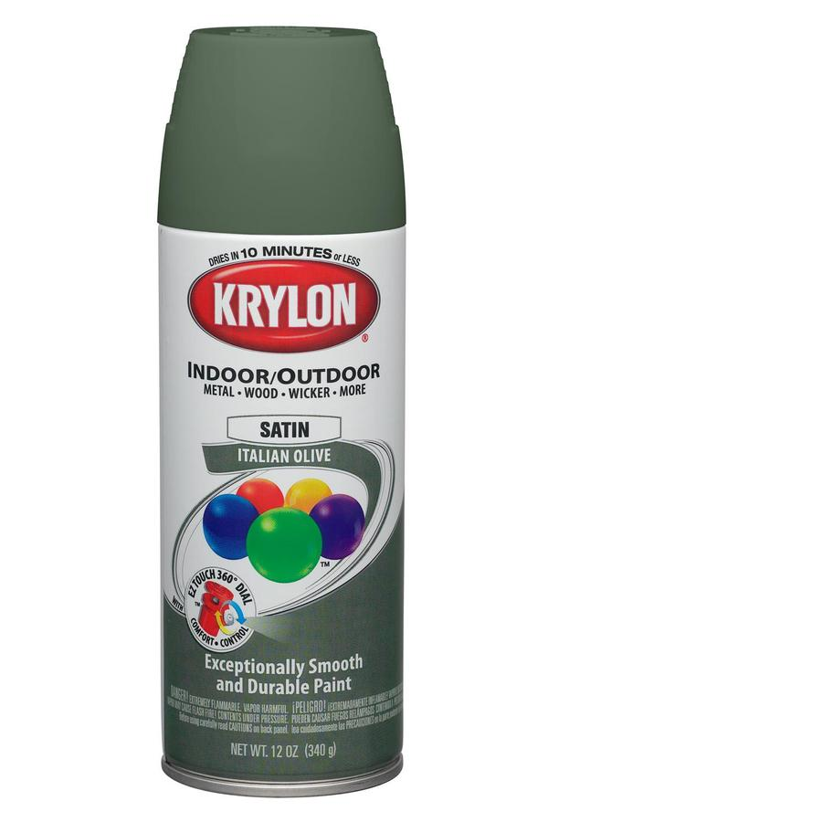 Shop Krylon 12 Oz Italian Olive Satin Spray Paint At