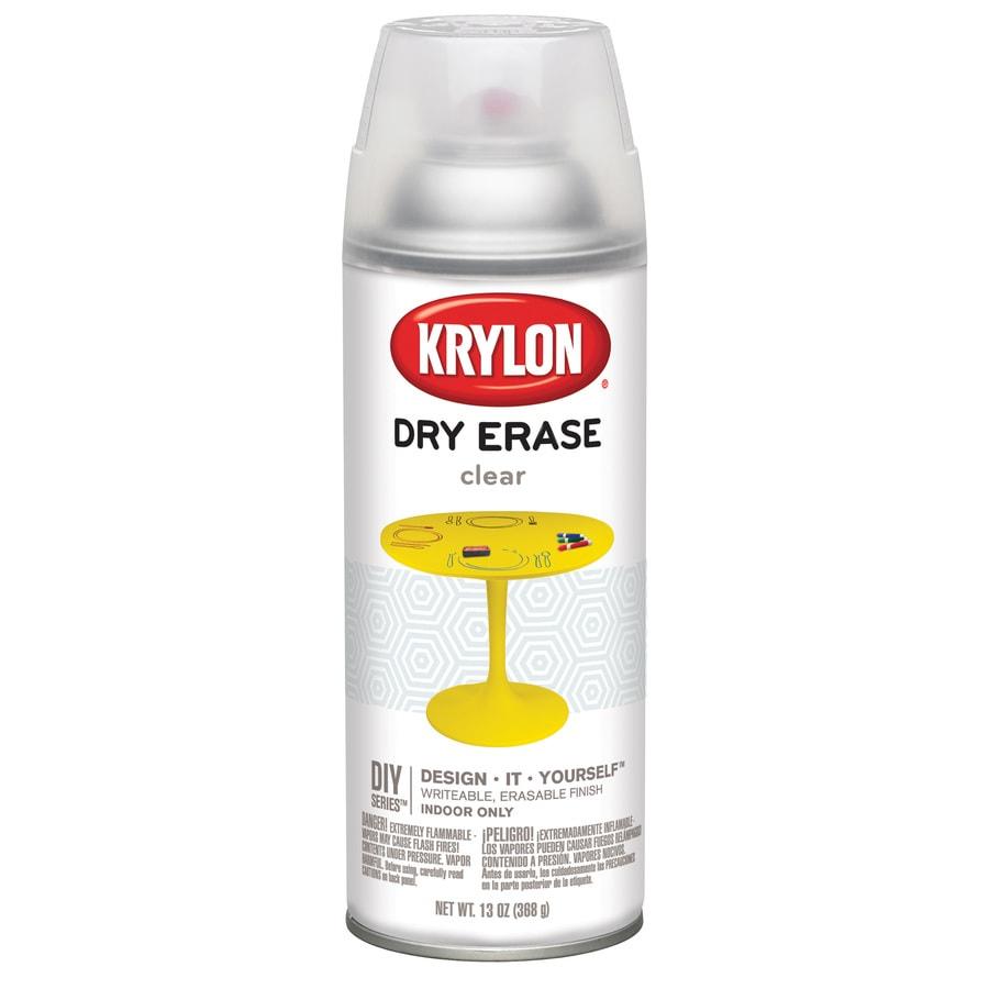 Krylon Clear Gloss Dry Erase Paint (Actual Net Contents: 12-fl oz)