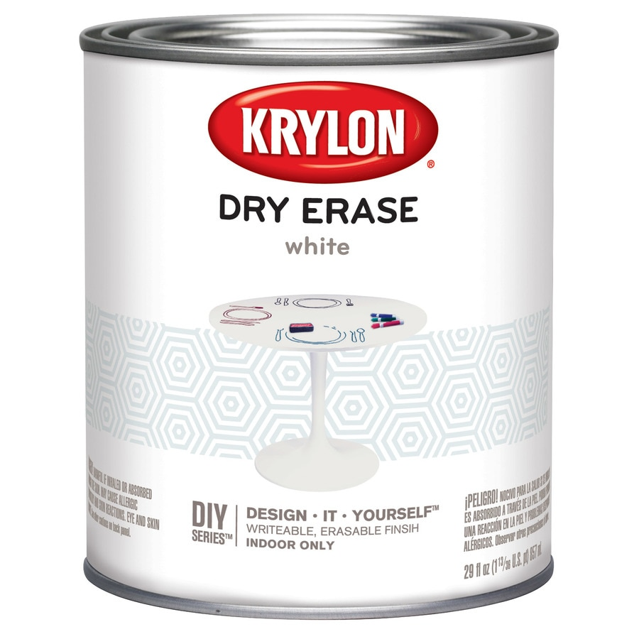 Shop Krylon White Gloss Dry Erase Latex Enamel Interior Paint Actual Net Contents 29 Fl Oz At