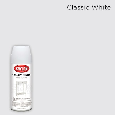 Chalky Finish Matte Classic White Spray Paint Actual Net Contents 12 Oz