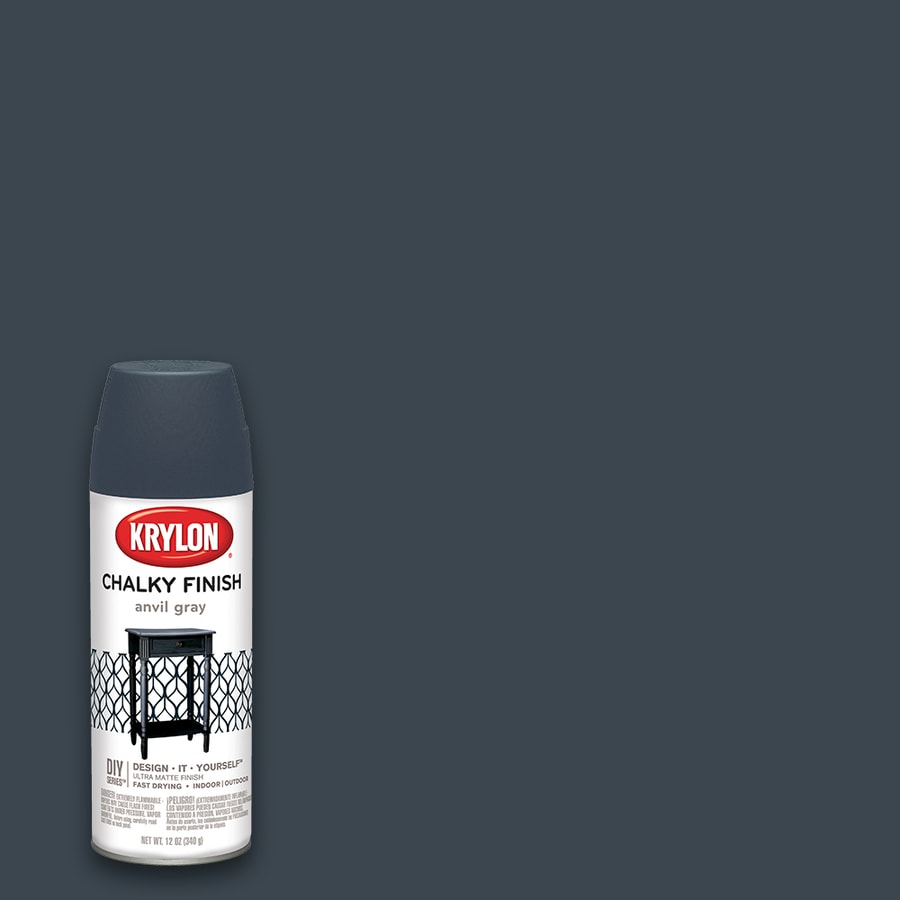 Krylon Misty Gray Chalky Enamel Spray Paint (Actual Net Contents: 12-oz)