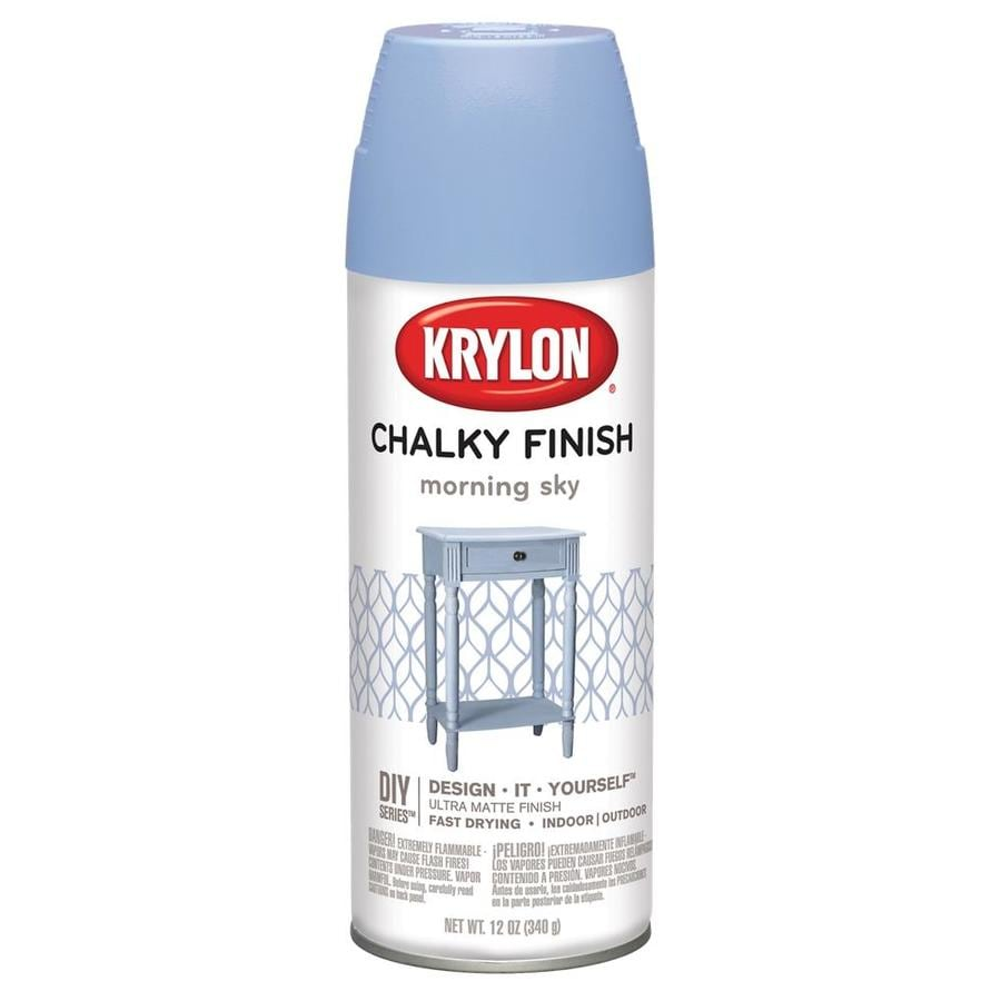 Shop Krylon Morning Sky Chalky Enamel Spray Paint Actual Net Contents 12 Oz At