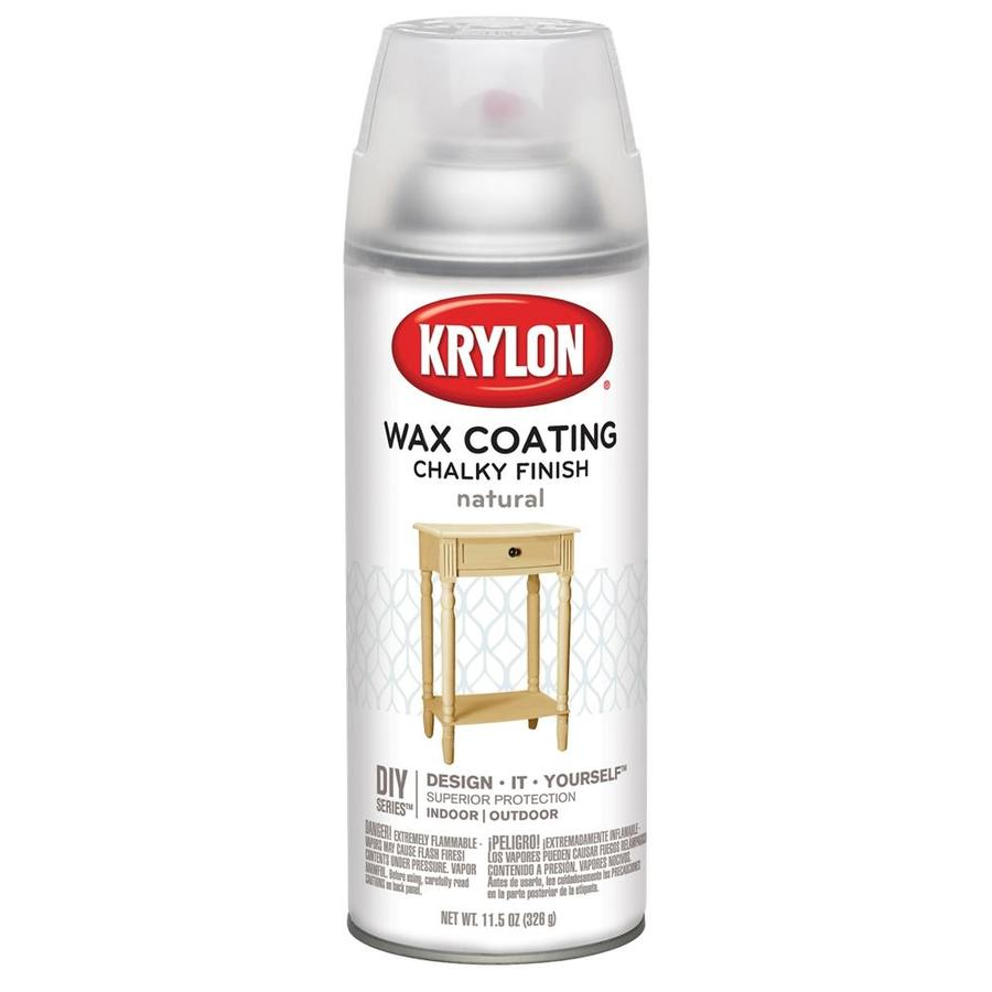 Krylon Natural Wax Coating Chalky Craft And Home Decor Spray Paint Actual Net Contents 11 5 Oz