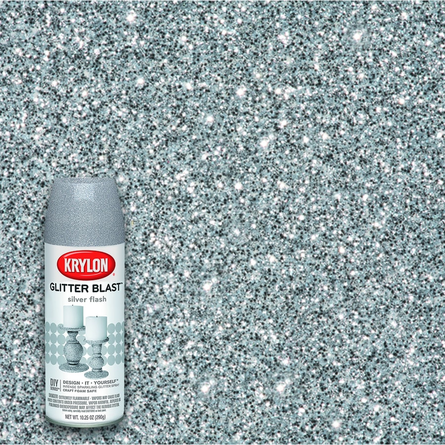 Krylon Silver Flash Glitter Lacquer Spray Paint (Actual Net Contents: 10.25-oz)