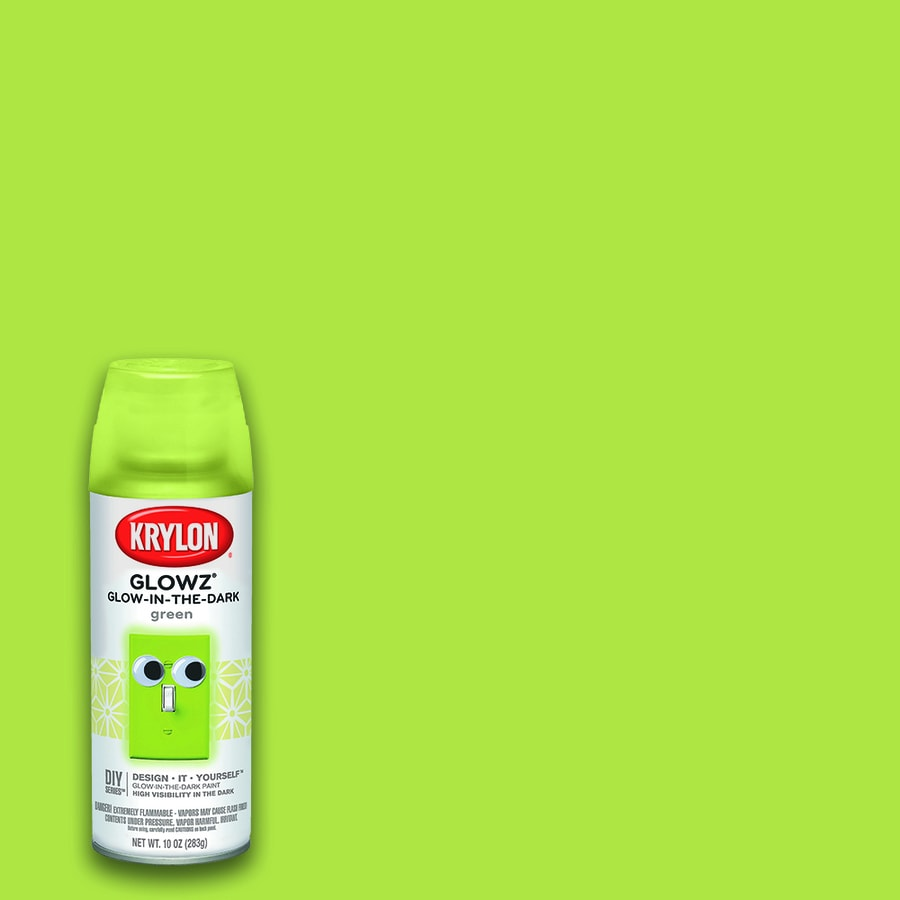 Krylon Green Glow In The Dark Lacquer Spray Paint (Actual Net Contents: 10-oz)