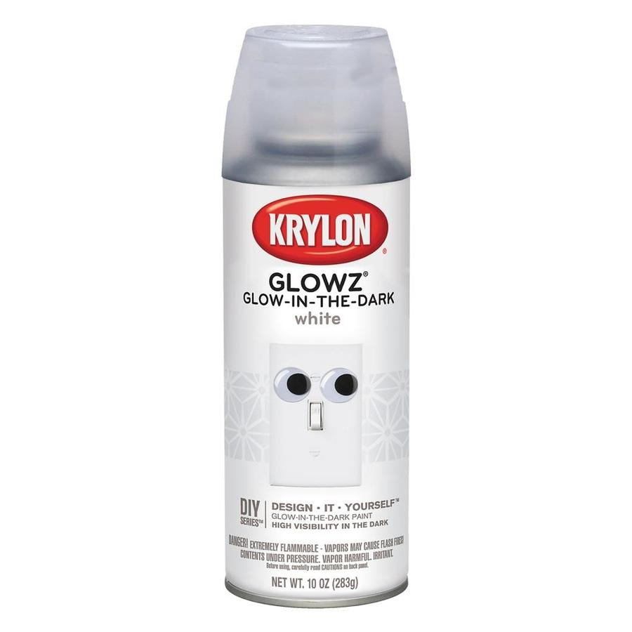 Krylon Glowz White Glow in the dark Lacquer Spray Paint (Actual Net Contents: 17.6)