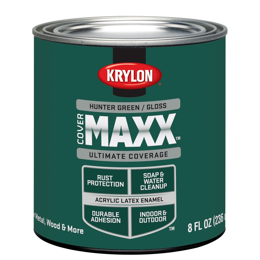 Krylon Coverma Hunter Green Gloss Latex Enamel Interior Exterior Paint Actual Net Contents