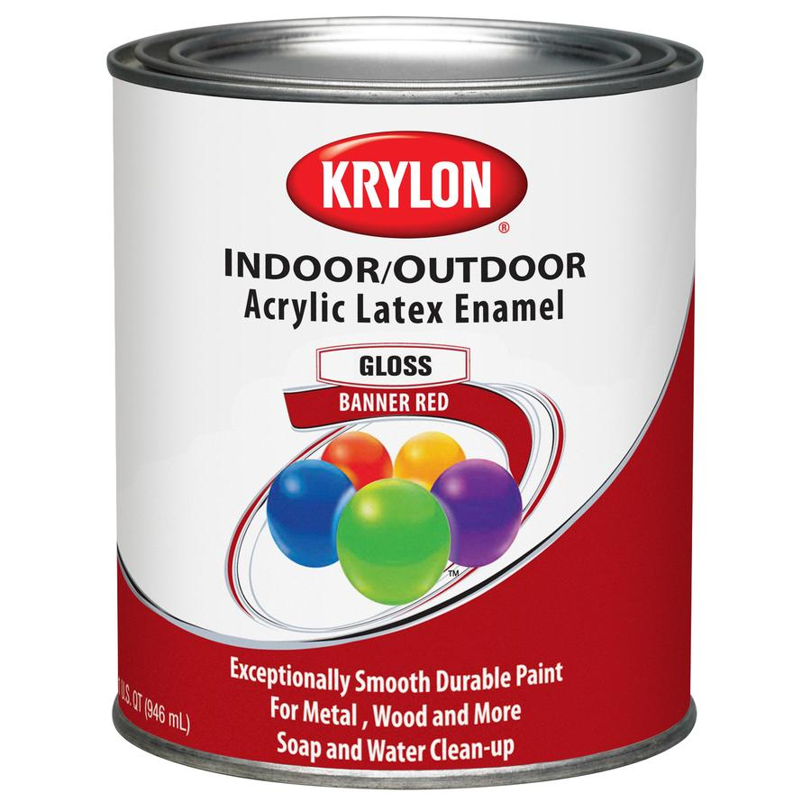 Krylon Covermaxx Banner Red Gloss Latex Enamel Interior/Exterior 32-fl oz