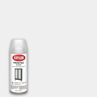 Flat White Frosted Glass Spray Paint Actual Net Contents 11 Oz