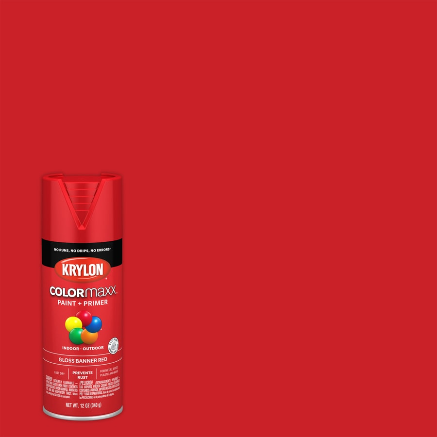 Krylon Colorma General Purpose Gloss Banner Red Spray Paint Actual Net Contents 12 Oz