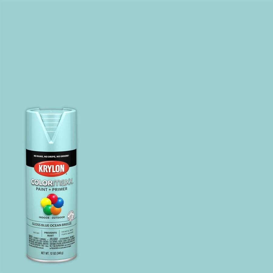 Krylon Colormaxx Gloss Blue Ocean Breeze Spray Paint And