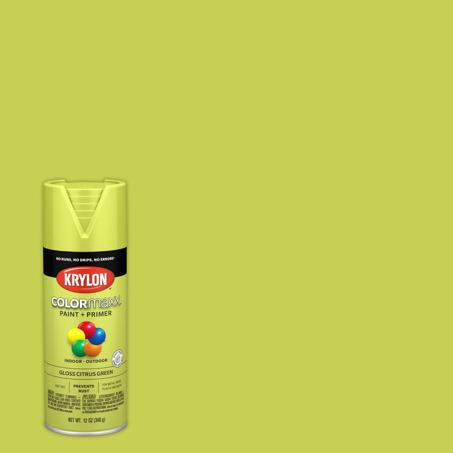 Krylon Colorma General Purpose Gloss Citrus Green Spray Paint Actual Net Contents 12