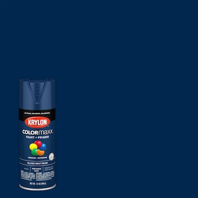 Krylon COLORmaxx Gloss Navy Blue Spray Paint and Primer In