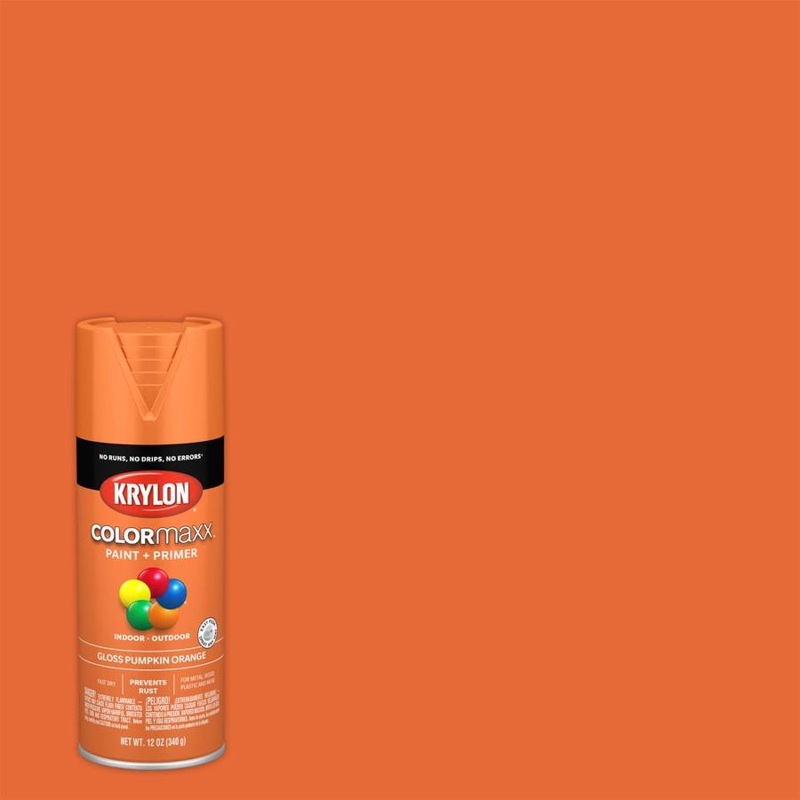 Krylon Colorma General Purpose Gloss Pumpkin Orange Spray Paint Actual Net Contents 12