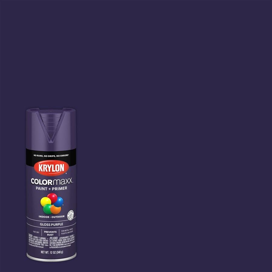 Krylon Colorma General Purpose Gloss Purple Spray Paint Actual Net Contents 12 Oz