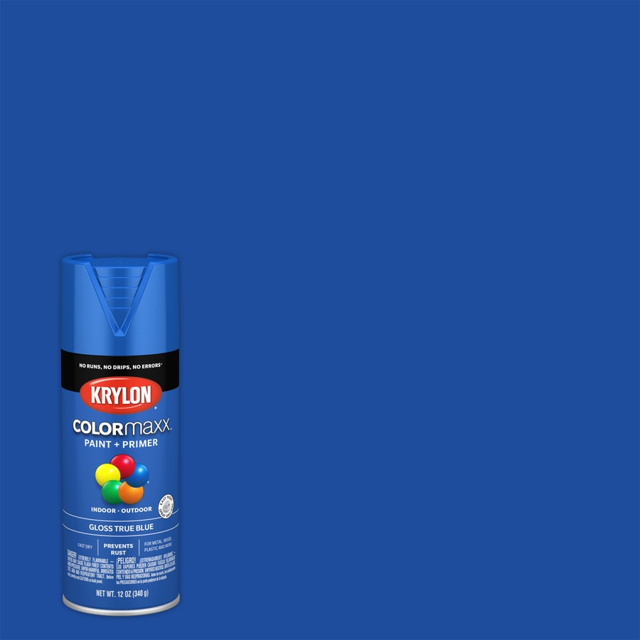 Krylon Colorma Gloss True Blue Spray Paint And Primer In One Actual Net Contents 12 Oz