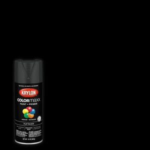 Krylon COLORmaxx Flat Black Spray Paint and Primer In One