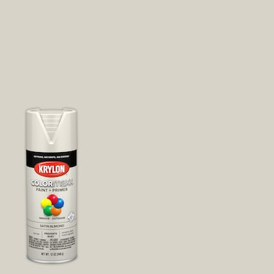 Krylon Colormaxx Satin Almond Spray Paint And Primer In One