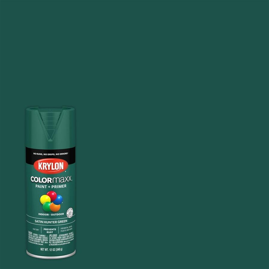 Krylon Colorma General Purpose Satin Hunter Green Spray Paint Actual Net Contents 12