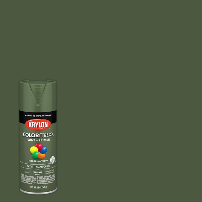 Krylon Colormaxx Satin Italian Olive Spray Paint And Primer In One Actual Net Contents 12 Oz In The Spray Paint Department At Lowes Com