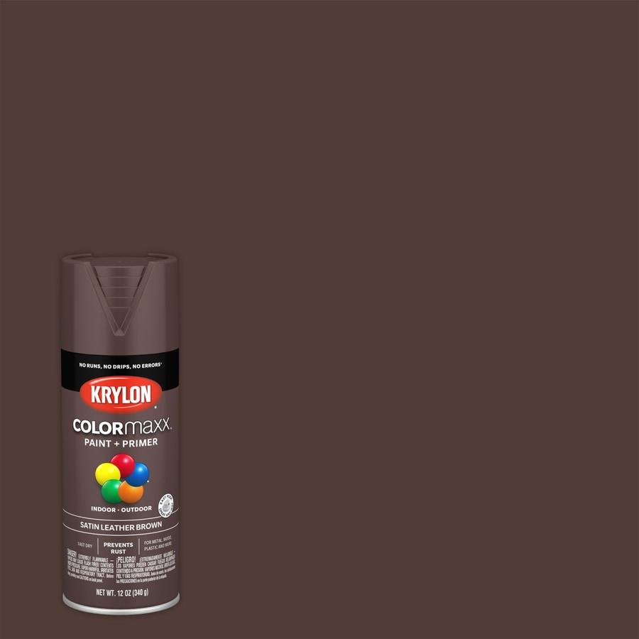 Krylon Colorma General Purpose Satin Leather Brown Spray Paint Actual Net Contents 12 Oz