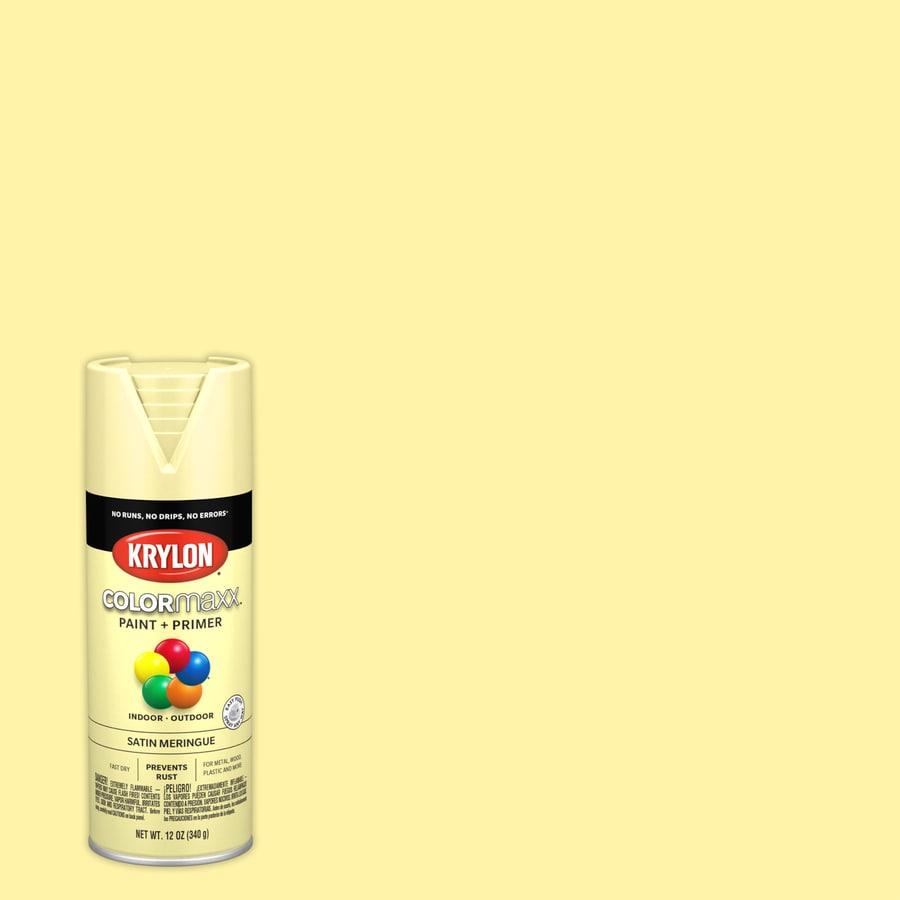 Krylon colormaxx general purpose satin meringue spray - What is satin paint ...