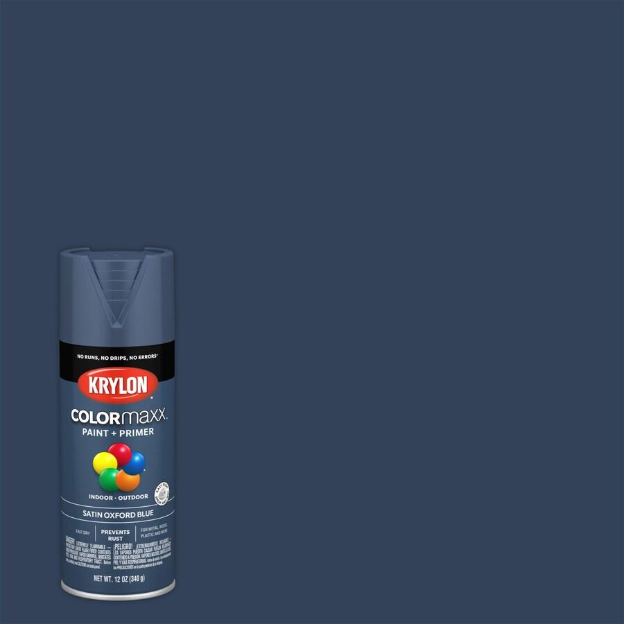 Krylon Colormaxx General Purpose Satin Oxford Blue Spray