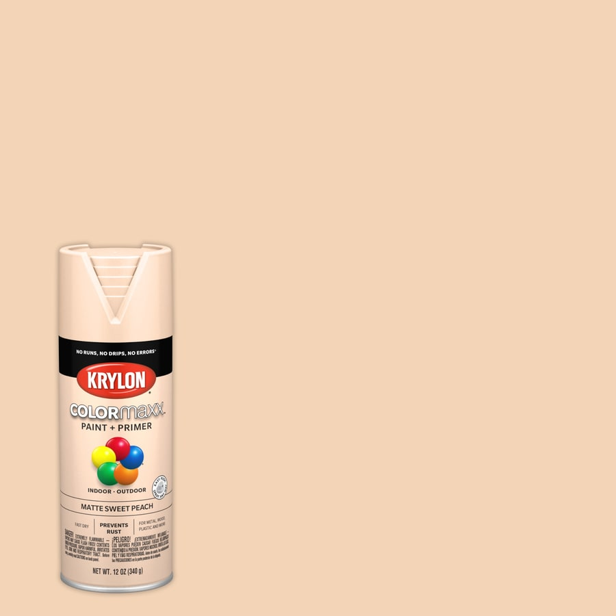 Krylon COLORmaxx Sweet Peach Rust Resistant General Purpose Spray Paint  (Actual Net Contents: 12