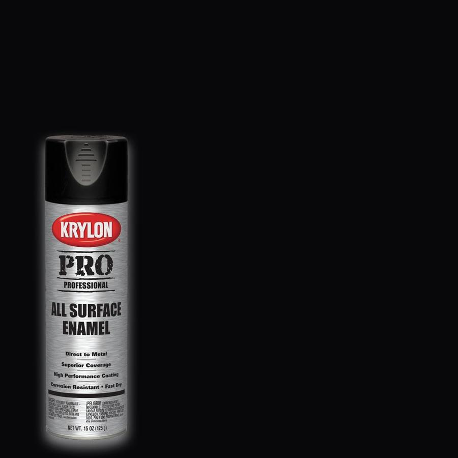 Krylon Professional Flat Black Spray Paint Actual Net Contents 15 Oz