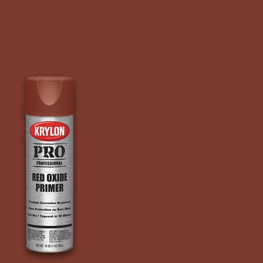 Krylon Professional Flat Red Oxide Spray Paint Actual Net Contents 17 Oz