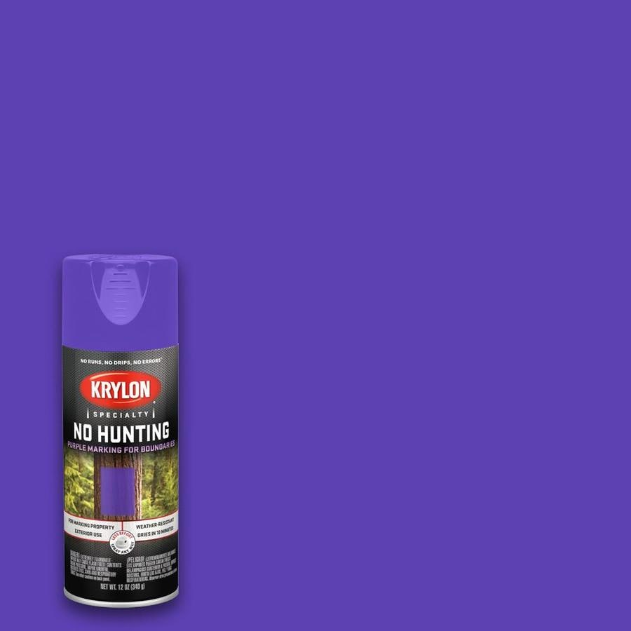 Krylon Gloss Purple Spray Paint Actual Net Contents 12 Oz