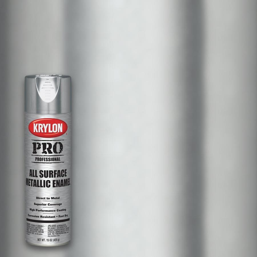 Krylon Professional Satin Stainless Steel Spray Paint Actual Net Contents 15 Oz