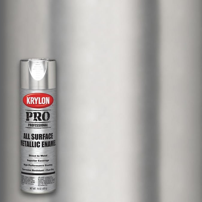 Krylon Professional Gloss Aluminum Spray Paint Actual Net Contents 15 Oz In The Spray Paint Department At Lowes Com